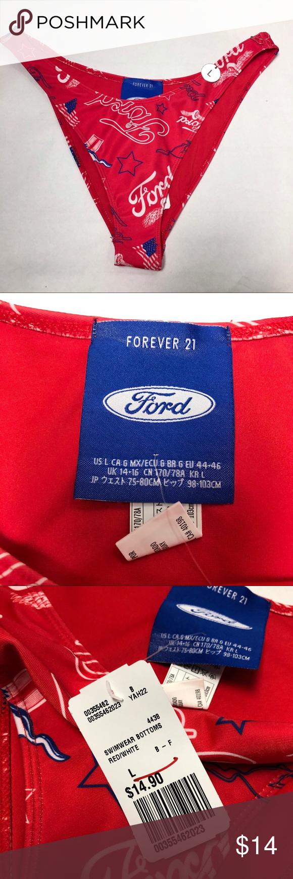 Red Bikini Bottom Ford X Forever 21 Red Bikini Bottoms Red Bikini Bikini Bottoms