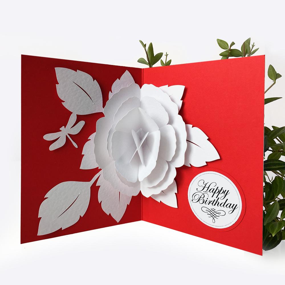 Обидные, открытка а внутри раскрывающийся цветок пошагово