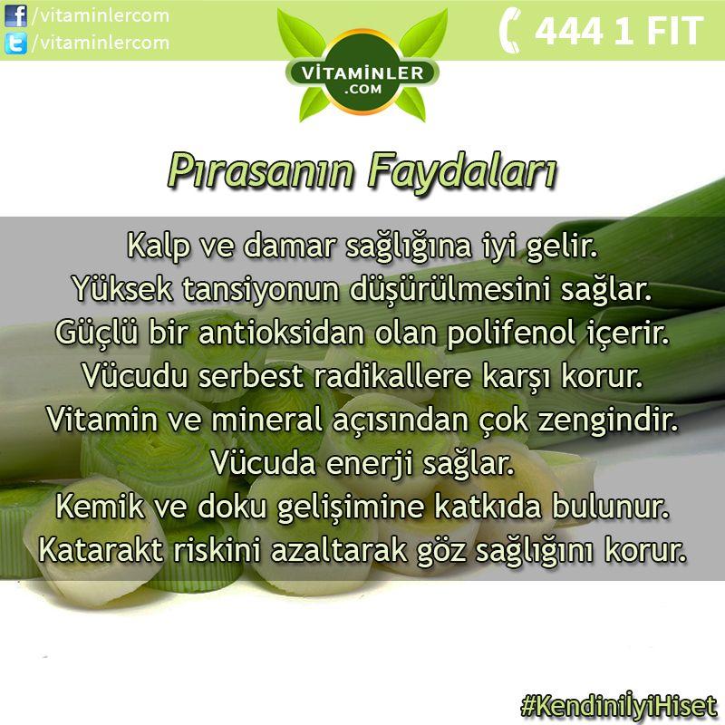 Pırasanın Faydalarını Tüm Dostlarınızla Paylaşın! #vitaminler #vitaminlercom…