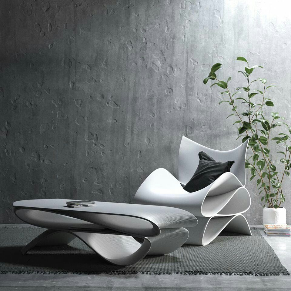 Cucune And Aibuild 3d Printed Lounge Chair And Coffee Table 3d Printed Furniture Luxury Design Print Divani Design