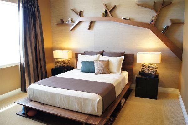 Schlafzimmer Wandregale Holz Design Baum   Holz   Pinterest   Design Designer Schlafzimmer Holz