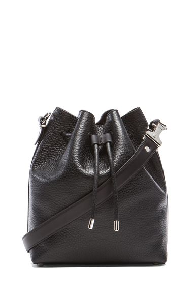 76d4a35408851e Proenza Schouler|Medium Pebbled Leather Bucket Bag in Black | Viva ...