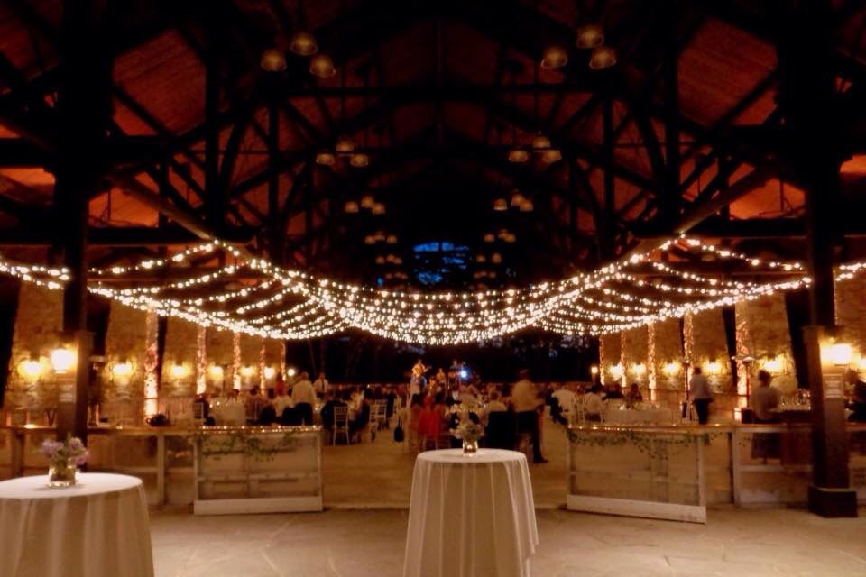 Bistro String Lights Create A Canopy Of Light Above Guests In The Pavilion At Mohonk Mountain