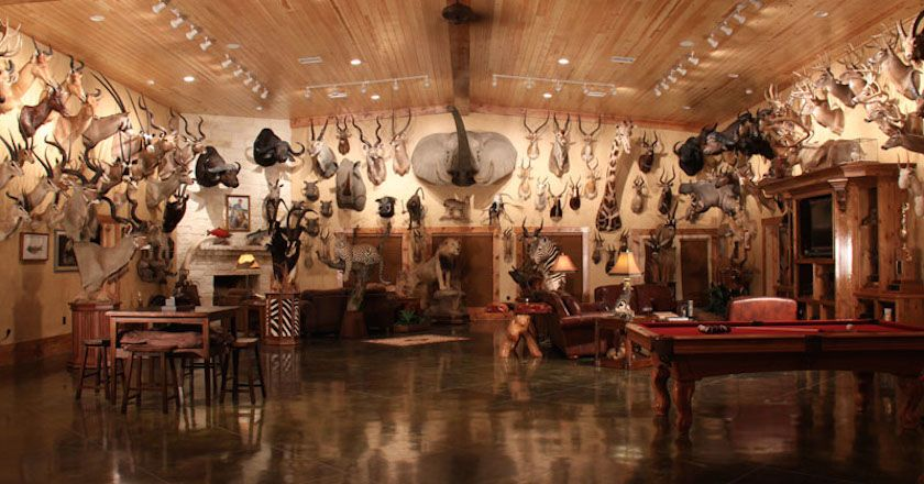 These 11 Hunters Trophy Rooms Are Completely Unbelievable Trophy Rooms Man Cave Home Bar Hunting Room