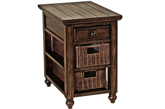 Tropical Styilng In Wood And Rattan The Cottage Lane Collection Features A Ton Of Storage With Drawers Shelves An Sofa Table Rattan Basket Chair Side Table