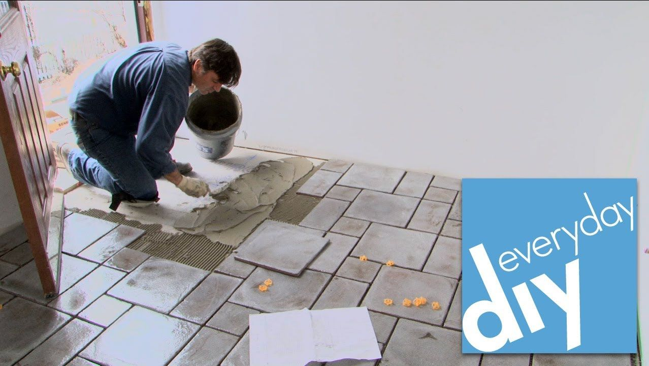 How to install a tile floor buildipedia diy renovations how to install a tile floor buildipedia diy dailygadgetfo Images