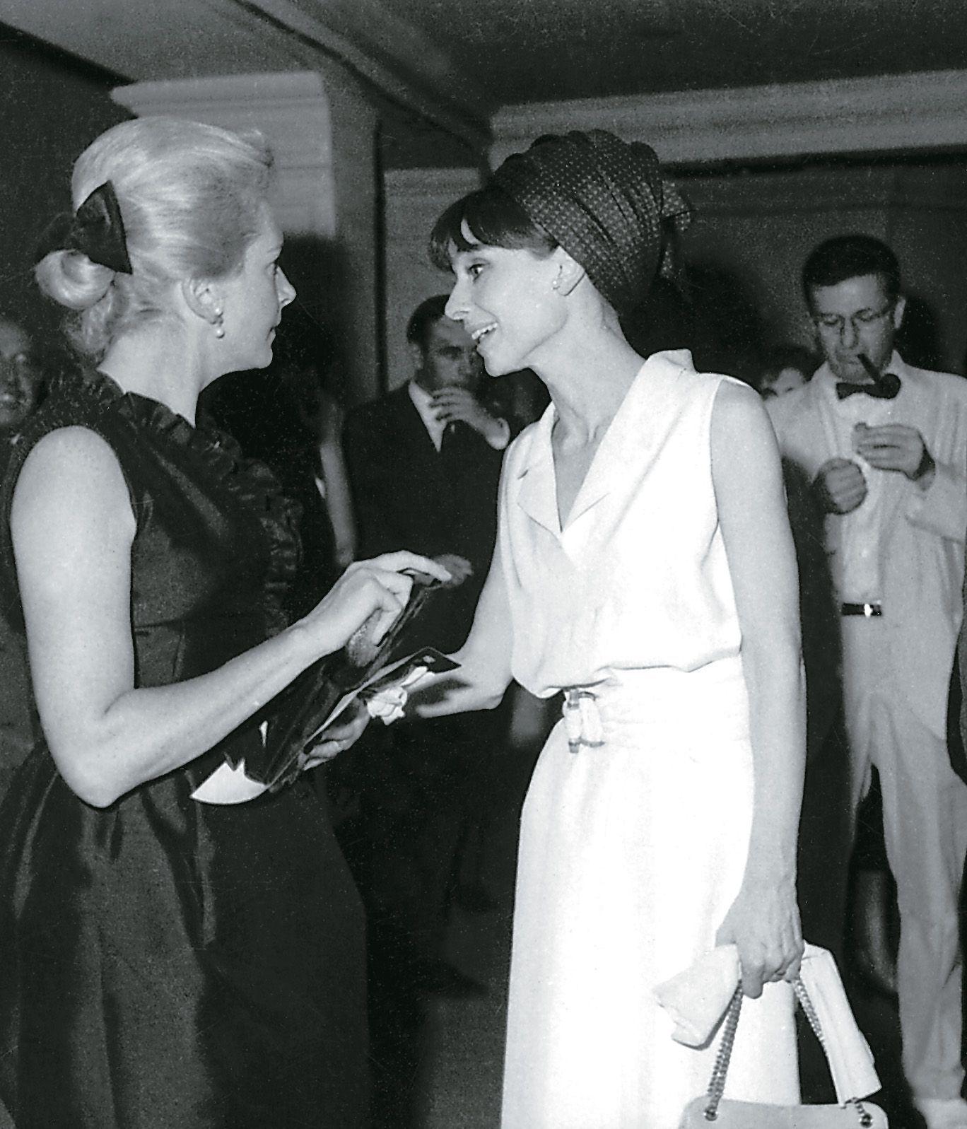 Deborah Kerr, Audrey Hepburn. Festival Internacional de Cine de San Sebastián 1964