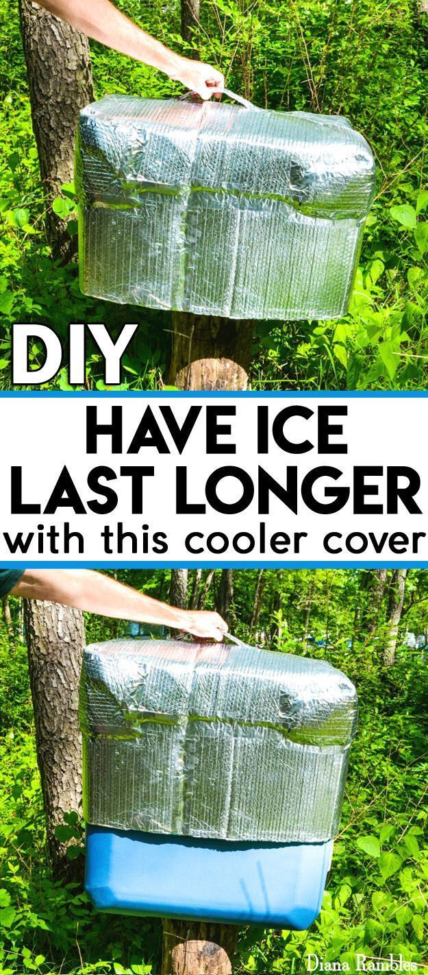 DIY Insulated Ice Chest Cooler Cover Tutorial-- DIY Insulated Ice Chest Cooler Cover Tutorial – Need to keep food cold while camping or travel? Extend the life of the ice in your ice chest while outdoors or in hot weather with this DIY Insulated Cooler Cover. It really works! #camping #picnics #campingDIY