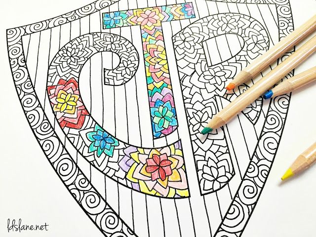 CTR Coloring Page by LDS Lane | Activity Days | Pinterest | LDS