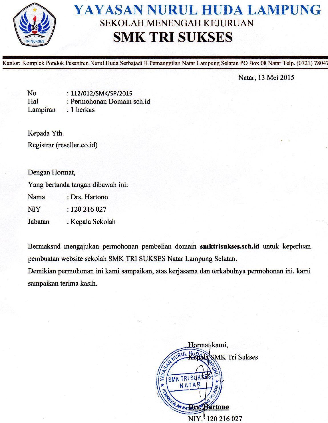 Contoh Surat Lamaran Kerja Indomaret Lampung Contoh Lif Co Id