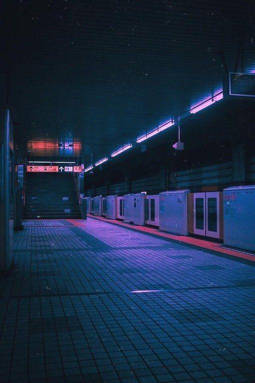 Subway. VaporwaveAesthetics City aesthetic, Night