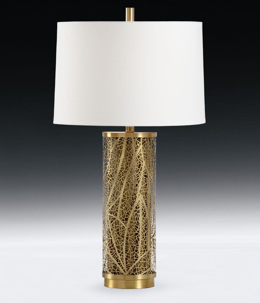 nature inspired lighting. Antique Brass Lamp With Open Work Design Nature Inspired Lighting R
