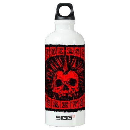 #punk rock forever aluminum water bottle - #travel #accessories