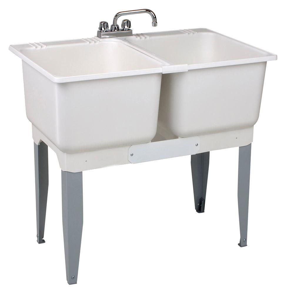 Mustee 36 In X 34 In Plastic Laundry Tub White In 2020