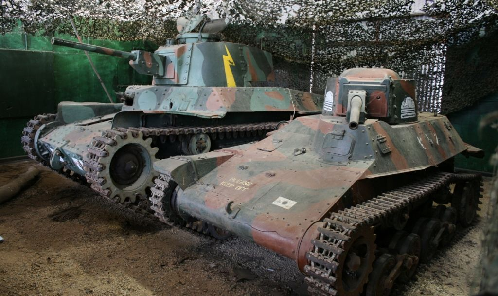 7149a996dfe3 Captured Japanese WW2 Chi-Ha tank and Type 97 Tankette - Puckapunyal  Australian Army Tank Museum