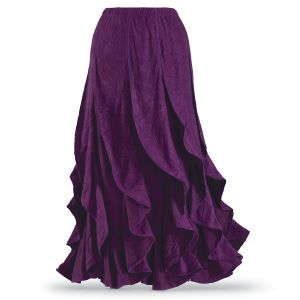 Purple Heather Skirt - New Age, Spiritual Gifts, Yoga, Wicca, Gothic, Reiki, Celtic, Crystal, Tarot at Pyramid Collection Maybe a different color.