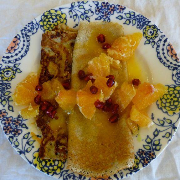 Crepes Suzette - includes Sorghum flour crepe recipe - GF