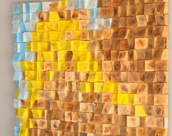 Madera Reciclada De La Pared Arte Mosaico De Madera Arte