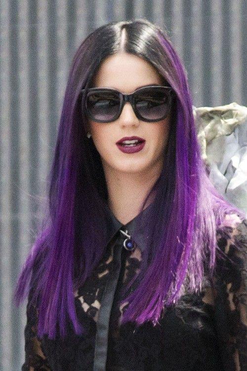 Dark Purple Hair Color Ideas Katy Perry S Dark Purple Ombre Hair Description From Pinterest Com I Searche Katy Perry Purple Hair Katy Perry Hair Purple Hair