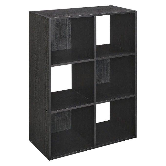 Superieur ClosetMaid 6 Cube Organizer   Black Ash