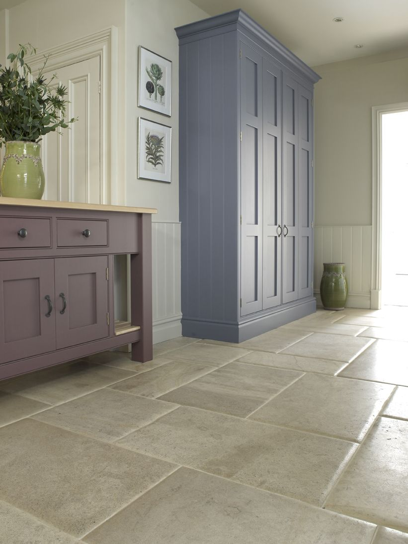 Beauvallon Pillowed Aged Stone Flooring Small Condo Kitchen Hallway Cupboards Kitchen Cabinets Backsplash