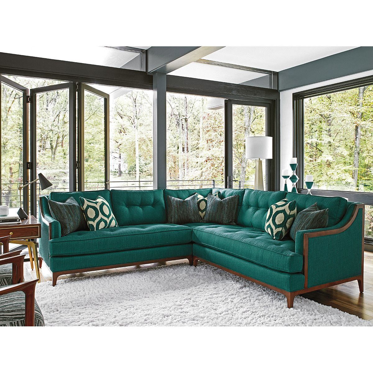Take Symmetrical Five Sectional Corner Sectional Sofa Lexington Home Furniture