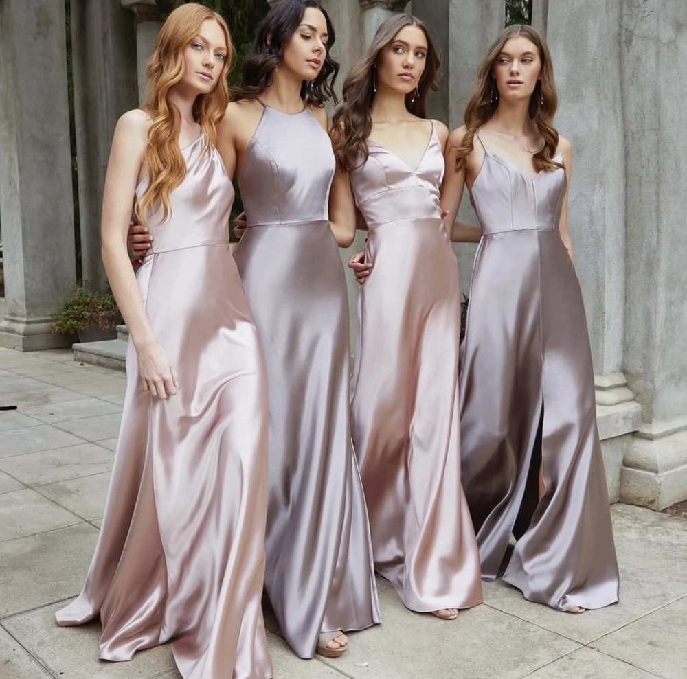 Styles Bridesmaid Dresses Long Silk Satin Wedding Guest Dress In 2020 Silk Bridesmaid Dresses Bridesmaid Dresses Boho Bridesmaid Dresses