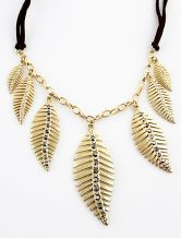 Gold Leaves Chain Necklace