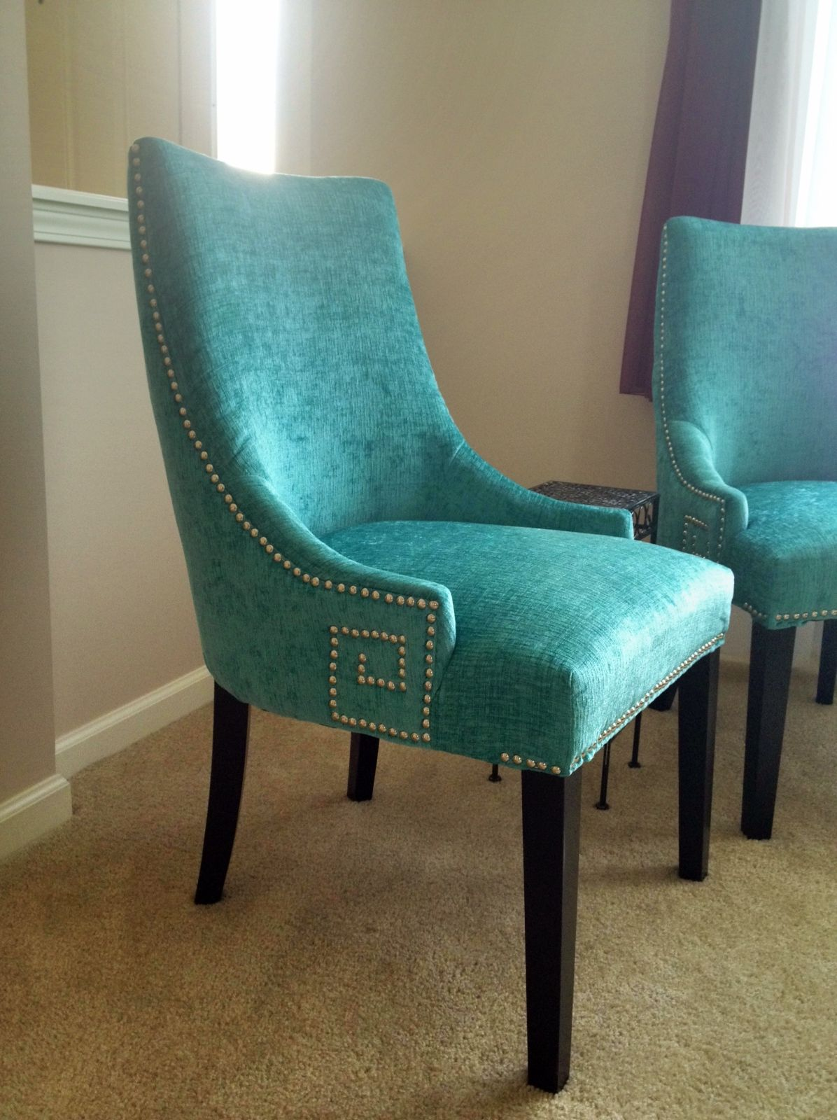 Turquoise chair Dining/chairs Turquoise dining chairs