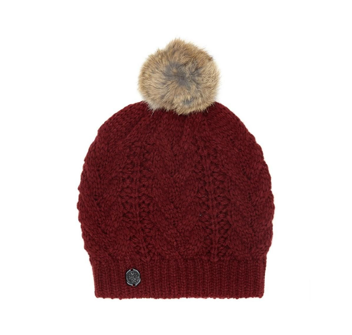 eb969e30006f1 Vince Camuto Cable-knit Pom Hat - Vince Camuto