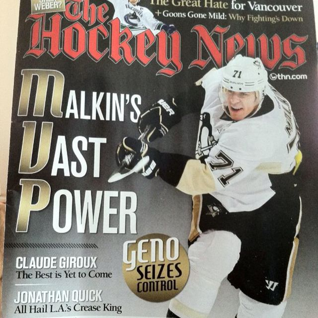 Best part about this THN cover: Geno's smile. #friendlybeast