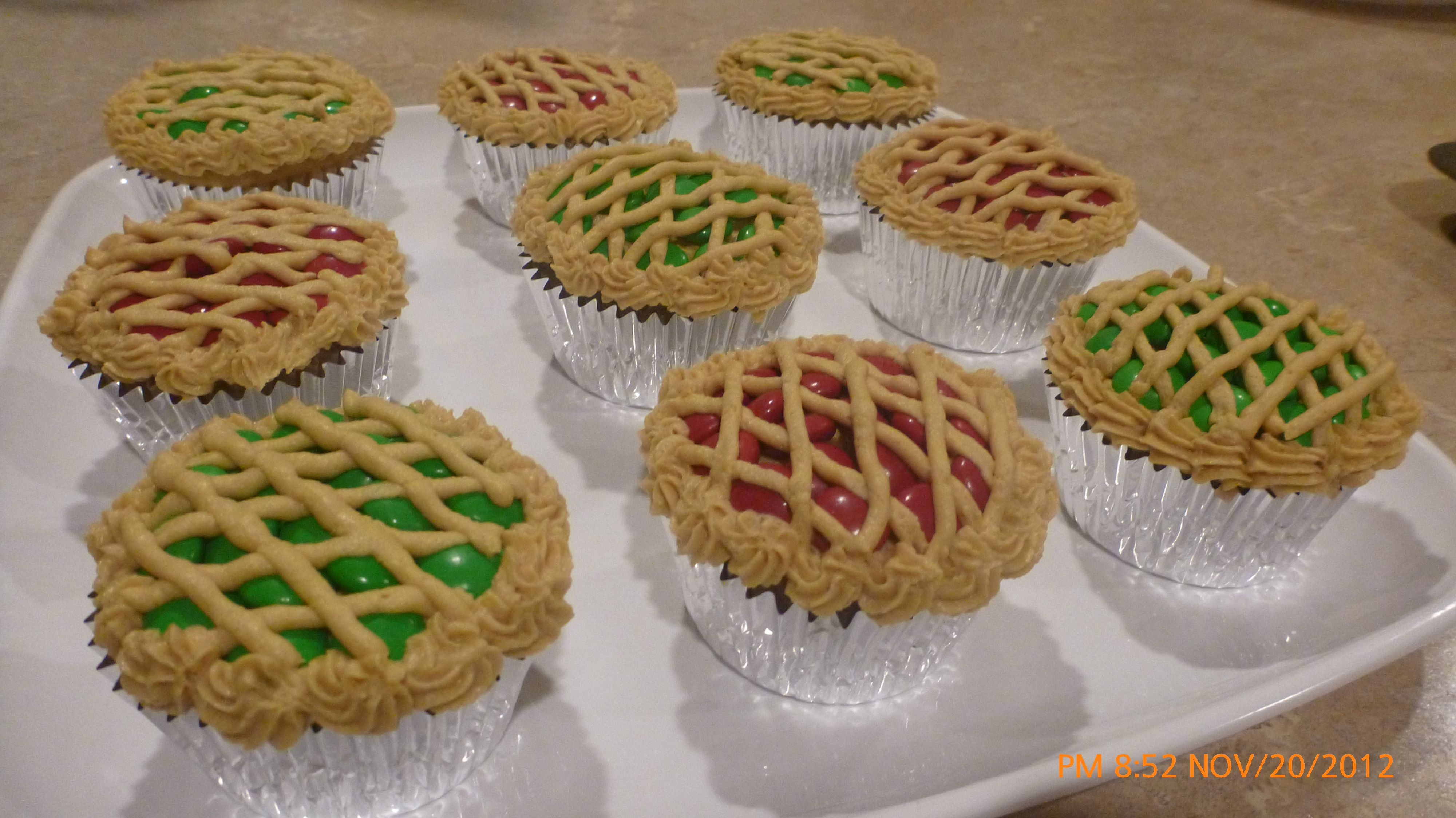 Thanksgiving M Amp M Cup Cake Pies That I Made For Class