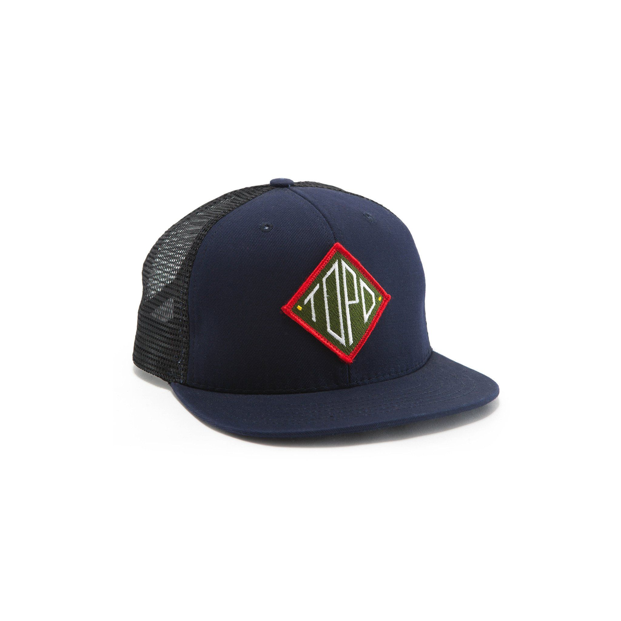72e3e30100f Our Snapback Hat reimagined. The Topo Designs Diamond Snapback Hat uses our  popular diamond patch on a two-tone