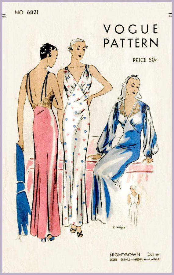 30s 1930s women\'s vintage lingerie sewing pattern art deco lace ...