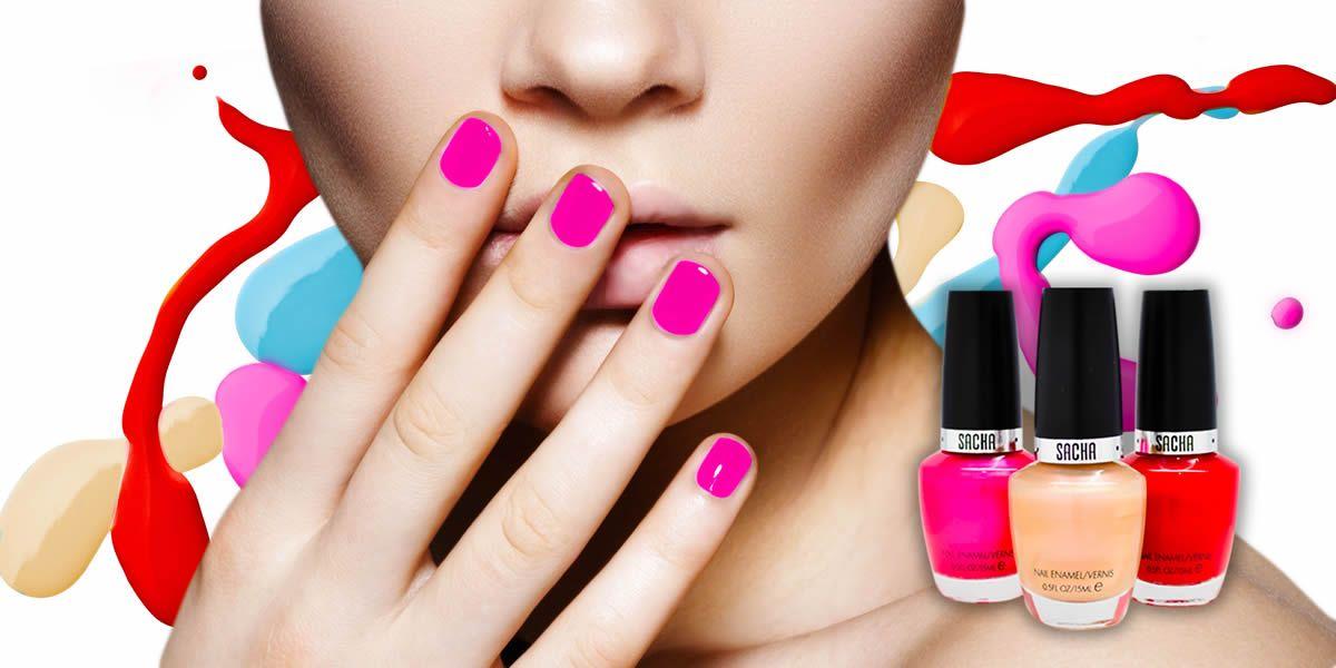 sacha cosmetics nail polish banner ad  nail polish