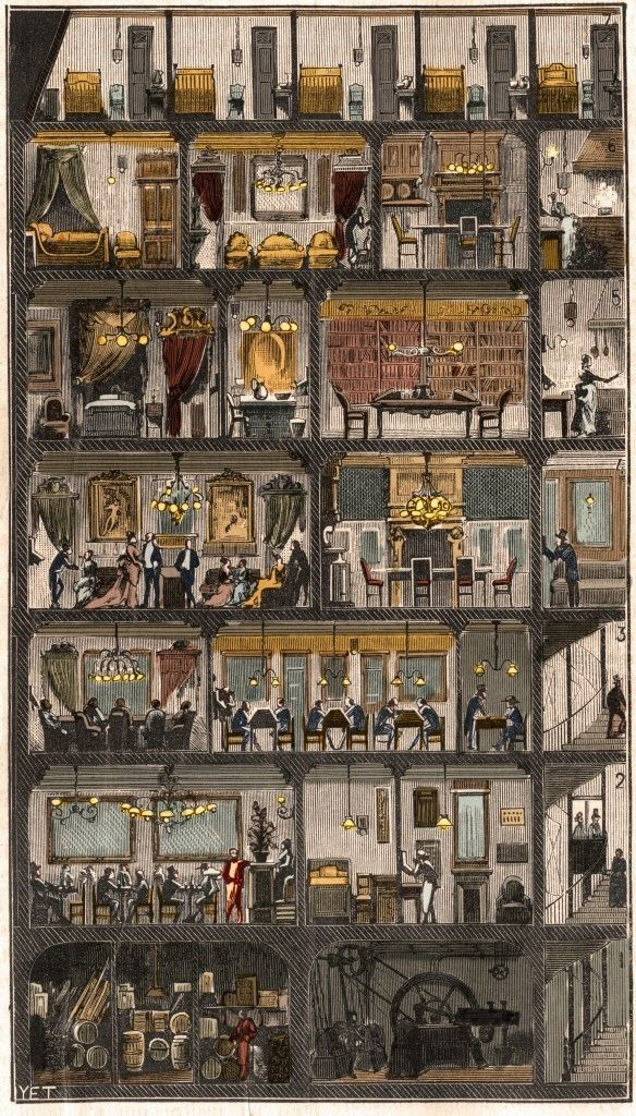 "Perec La Vie Mode D'emploi : perec, d'emploi, D'emploi"", Georges, Perec, House, Illustration,, Architecture, Drawing,"