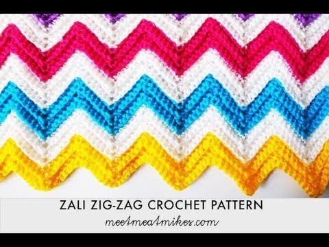 Zali Zig-Zag Crocheted Chevron Blanket | crafts | Pinterest | Manta ...