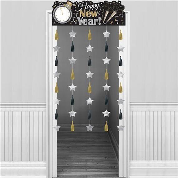 Metallic New Year Door Curtain - 1.95m, New Year's Eve ...
