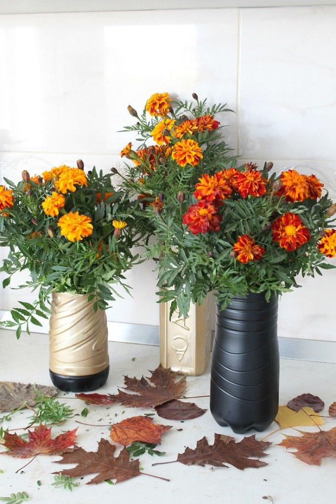 Diy And Plastic Diy Flower Vase Out Of Plastic Bottles Home