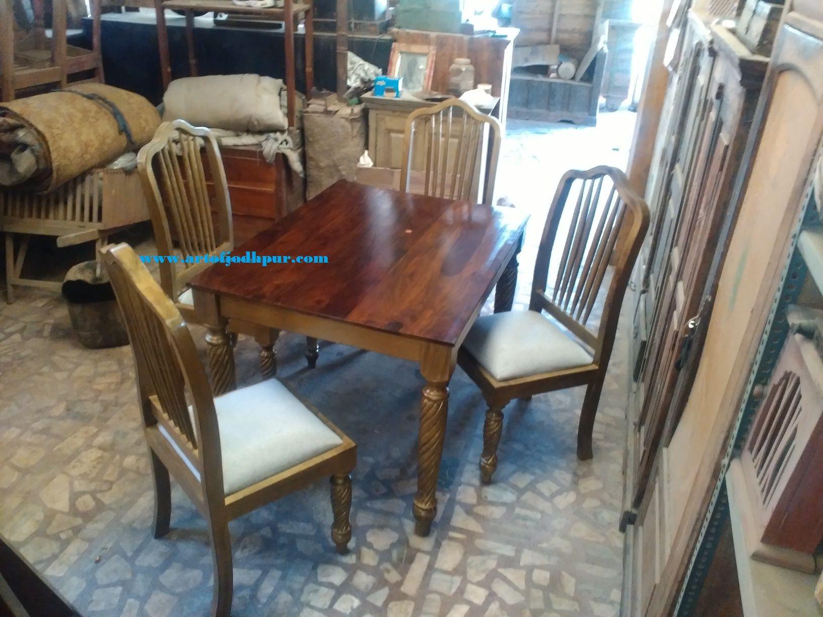 sheesham wood home furniture dining set table 40 x 34 x 30 inch chair & sheesham wood home furniture dining set table: 40 x 34 x 30 inch ...