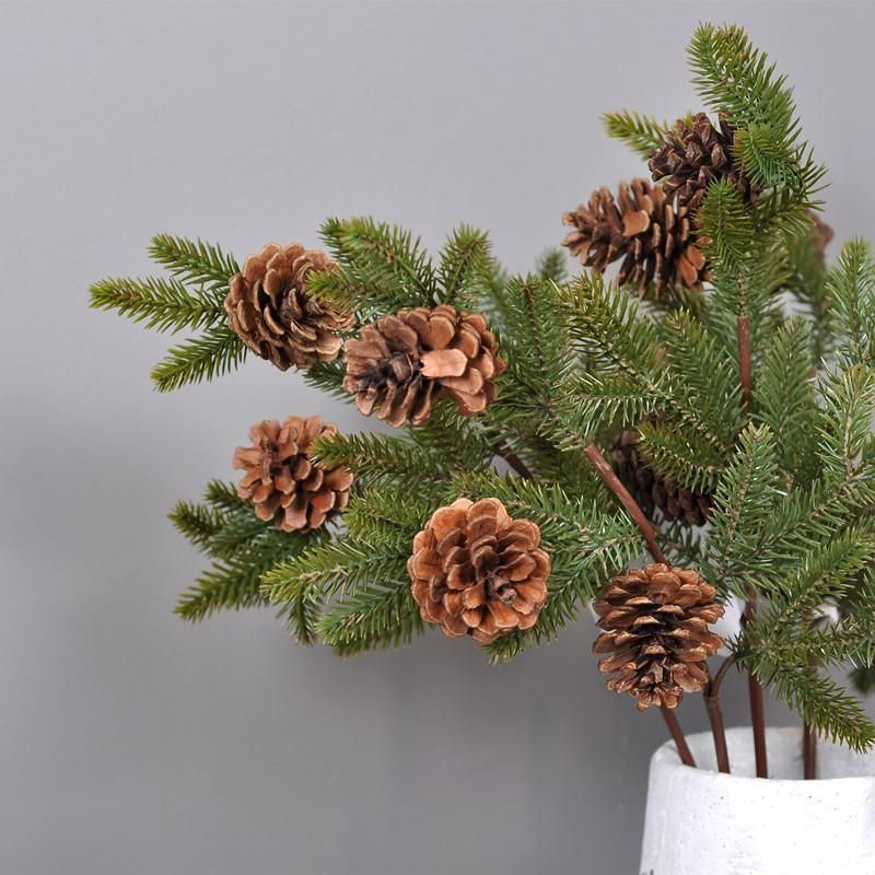 0146 Artificial Pine Nut Tree Flexible Stem Dried Branches Merry