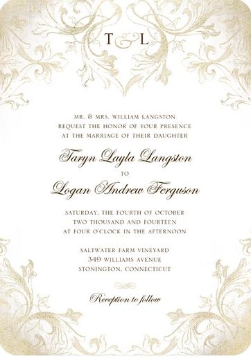 Wedding Invitation 259 Each Signature White Textured 111 Lb 17