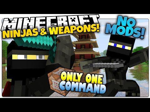 Ninjas In Minecraft Smoke Bombs Shuriken More Only One Command Minecraft Vanilla Mod Minecraft Minecraft Commands Minecraft Tutorial