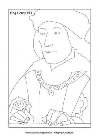 Henry Vii Coloring Pages Tudor History Mystery Of History