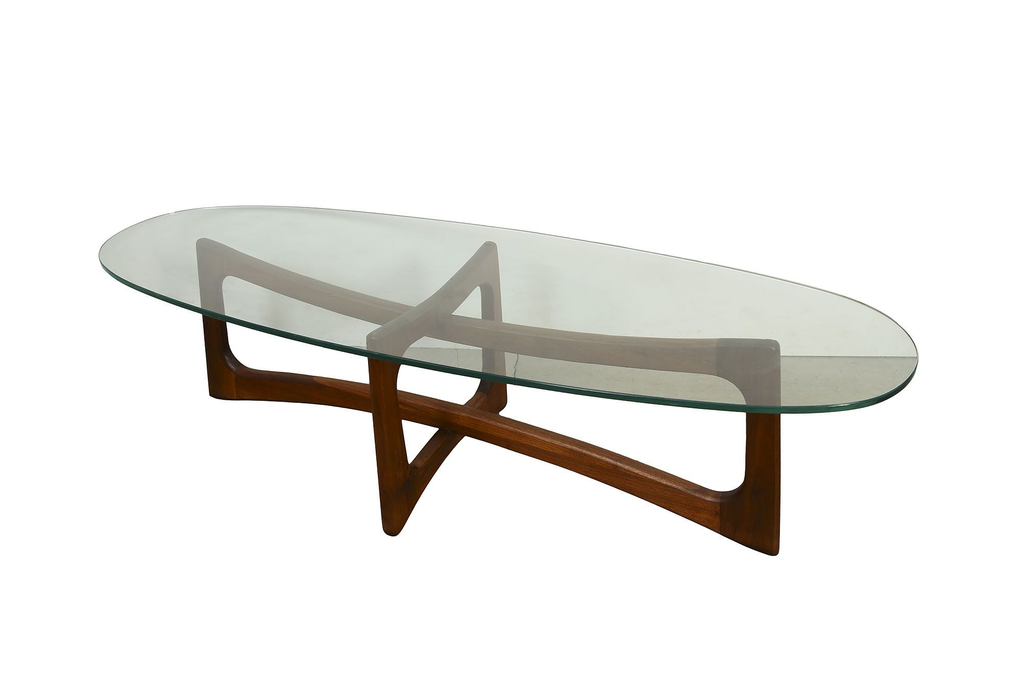 Adrian Pearsall Glass Top Cocktail Table Craft Associates Glass Top Coffee Table By Hearthsidehome On Etsy Glass Top Side Table Coffee Table Pearsall [ 1359 x 2000 Pixel ]