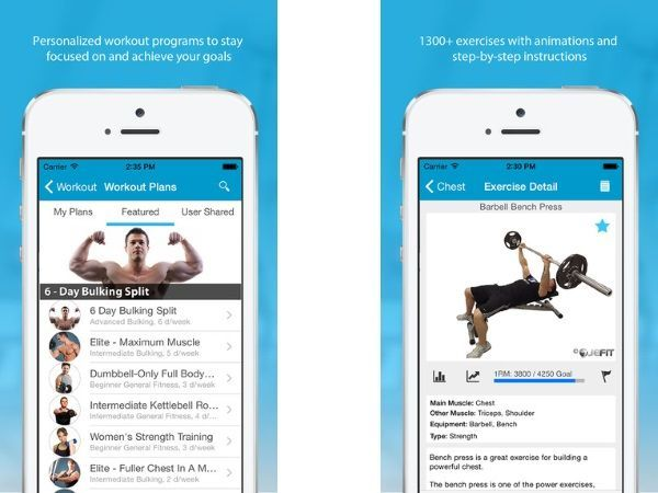 JEFIT (Free; Android, iOS) Best workout apps, Fun