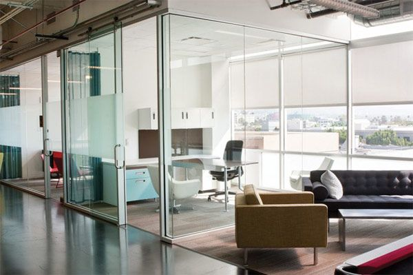 Google YouTube Office Beverly Hills 6 - Glass Cubicle
