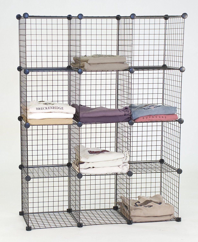 KC Store Fixtures 04120 Mini Grid Clothes Organizer, 3
