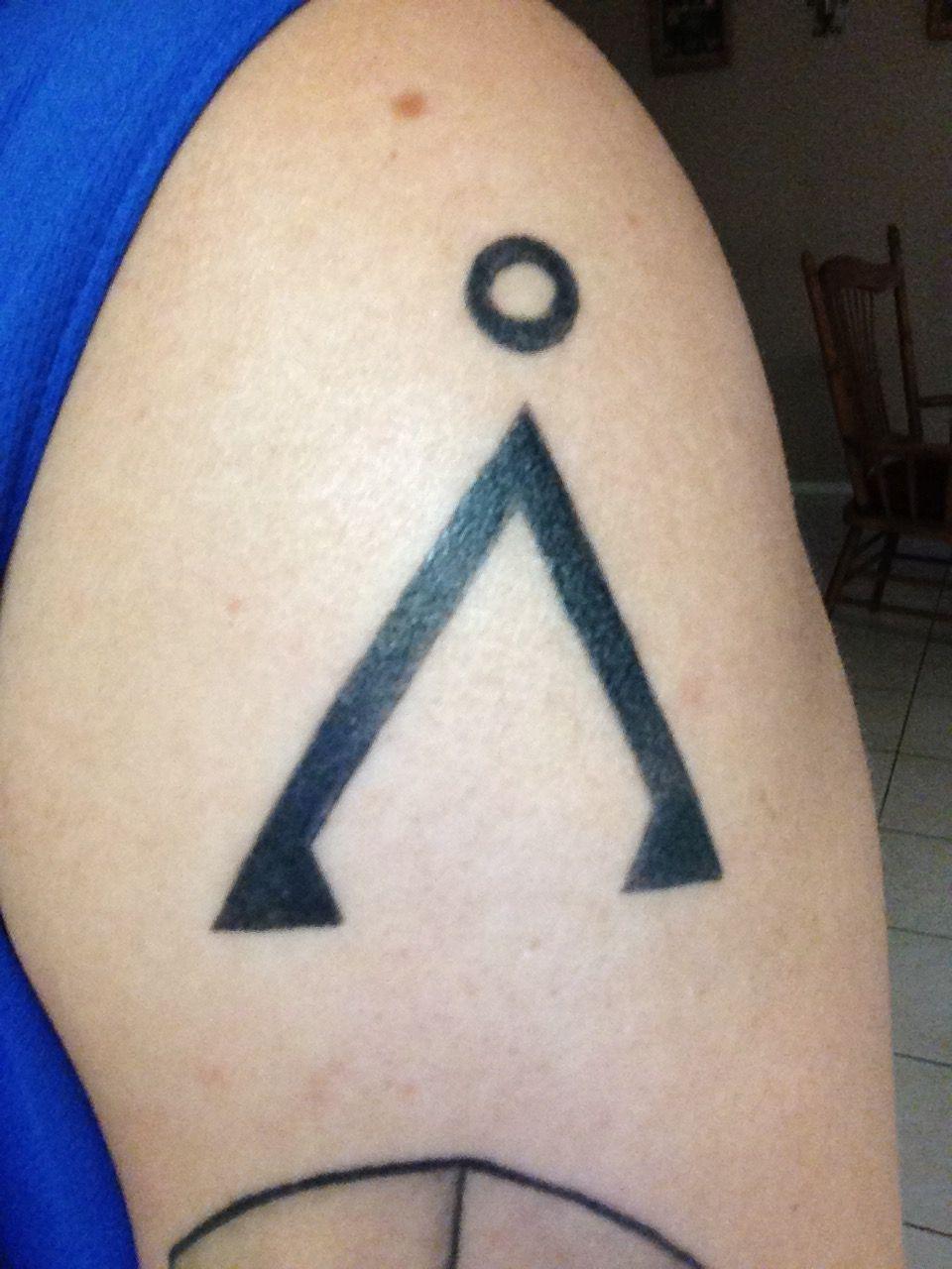 Stargate tattoo. Shoulder tattoo. Earth symbol. | Tattoos ...