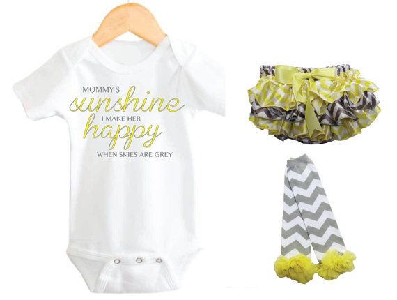 ad2b047d1 Mommy s Little Sunshine Baby Clothing set My by LittleAdamandEve ...